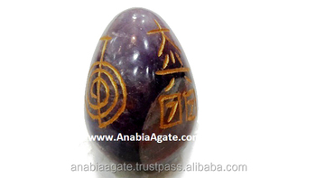 Amethyst Engrave Usai Reiki Egg : Metaphysical Online Store : New Age  Online Store - Buy Gemstone Reiki Egg,Usai Reiki Egg,Agate Gemstone Egg  Product