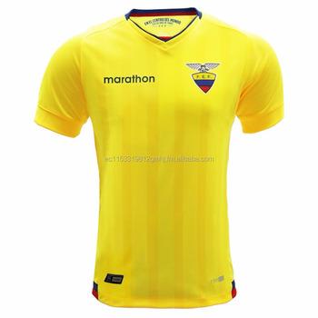 32d250481 Ecuador National Soccer Team - Home Yellow Jersey - Buy Ecuador ...