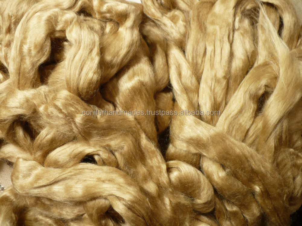 Naturally Golden Muga Silk Tops Available For Spinners