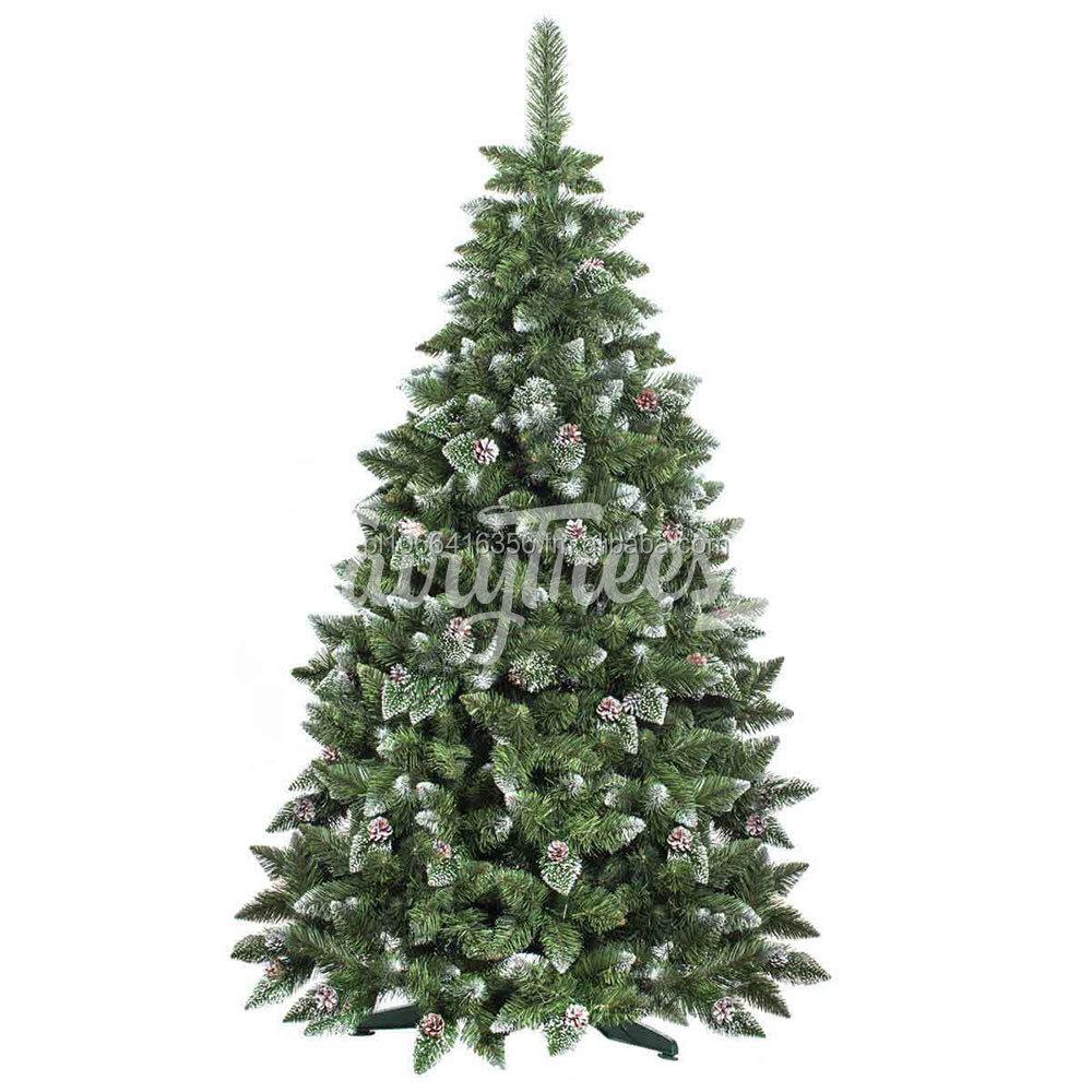 Rbol de navidad artificial de pino natural blanco pvc - Arbol de navidad artificial ...