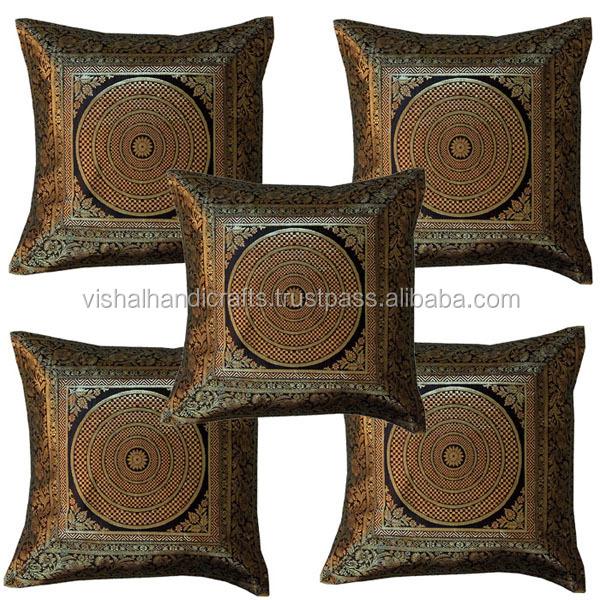 Fine Banarasi Silk Jacquard Cushion Cover 50 Pcs Set Whole Lot