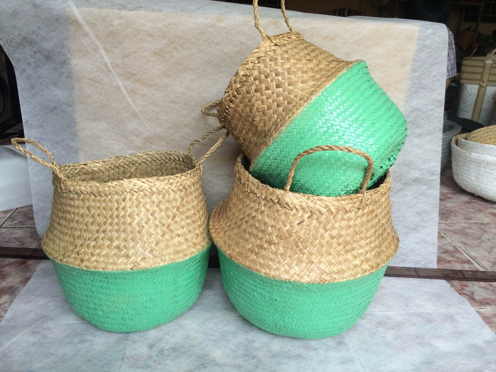 Hot Selling Eco-friendly Natural Seagrass Belly Basket From ...