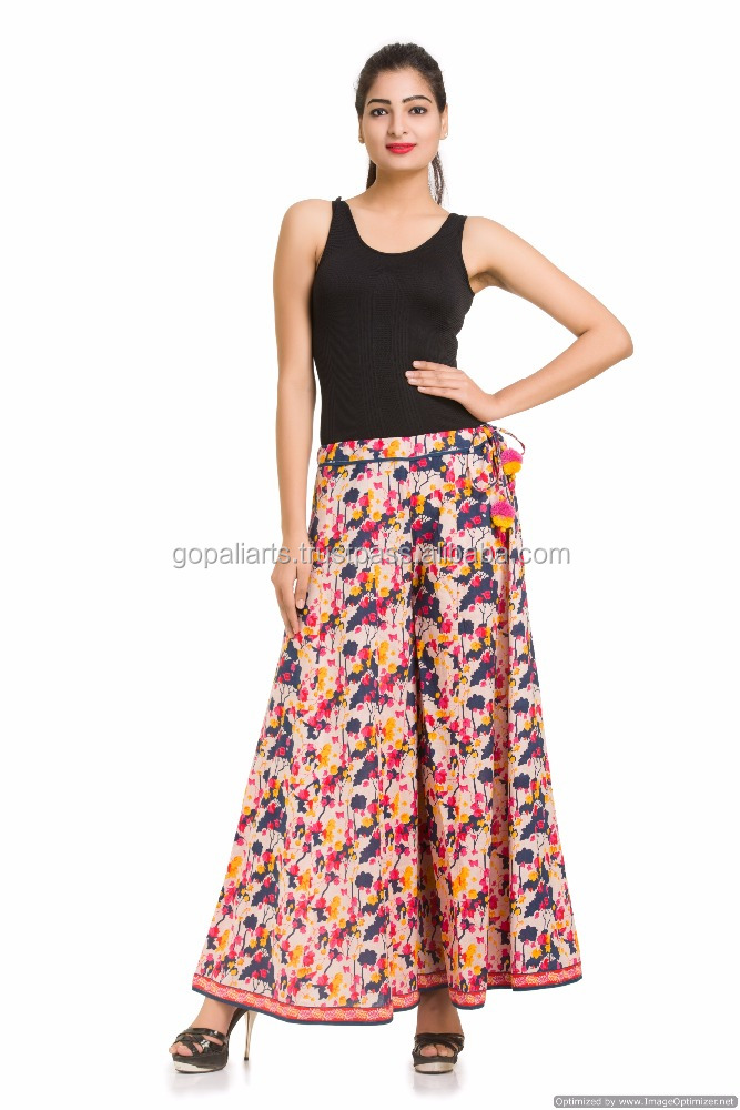 Indian Palazzo Pants For Girls Casual Seasonable Trousers Boho Designer Pants