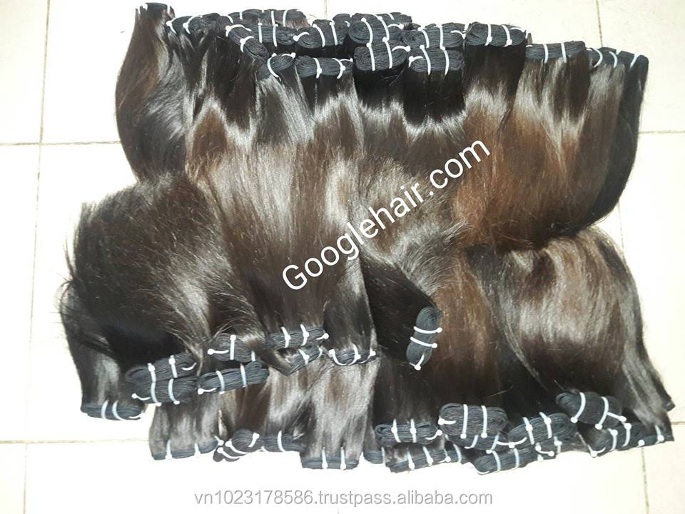 High Quality Hair Extensions Double Drawn Straight Weft Super Silky and Soft Hair Wholesale and Retail in Vietnam