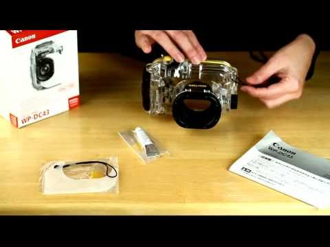 Unboxing the Canon WP-DC43 underwater housing for the Canon Powershot S100
