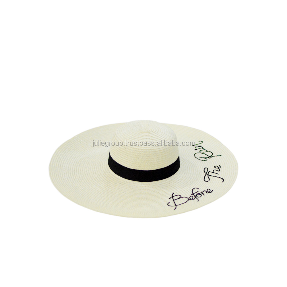 2016 new style promotional summer ladies beach straw hat