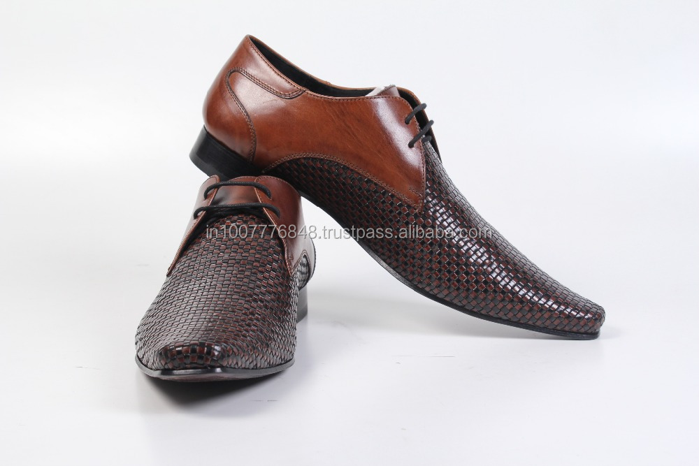 Style Party Mens Shoes Dress Design Genuine Tan Leather Latest nqvwxZf1tf