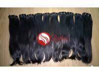 Black Color Hair Raw Hair Extension No Nits No Lice No Synthetic