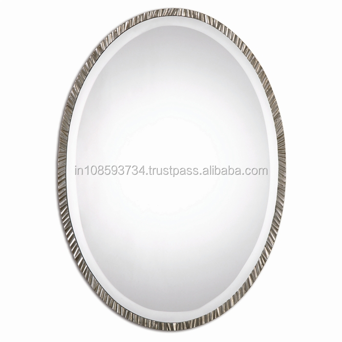 Oval Metal Mirror Frame
