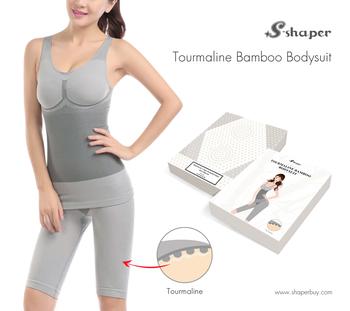 1a7faa94f020c S-SHAPER Tourmaline Bamboo Bodysuits Far Infrared Body Shaper Underwear