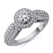 Solitaire Real Natural 1.00Ct Diamond Wedding Ring in 14k Gold at Manufacturing Price
