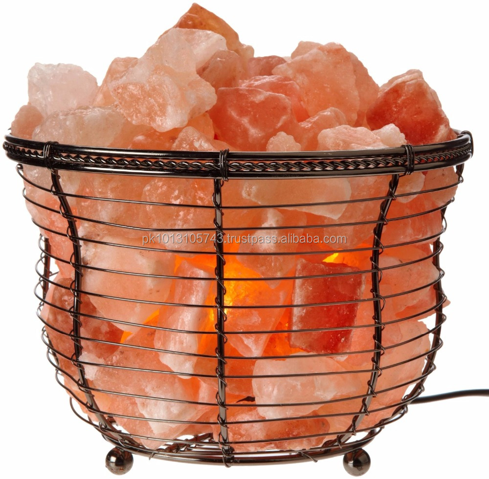 Iron design Natural Himalayan Salt Lamp rock salt