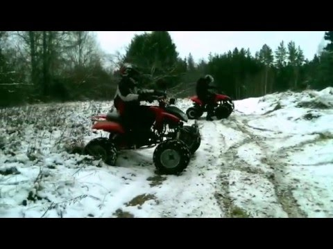 ATV Bashan bs7 200cc VS Atv 125cc. 2015 winter