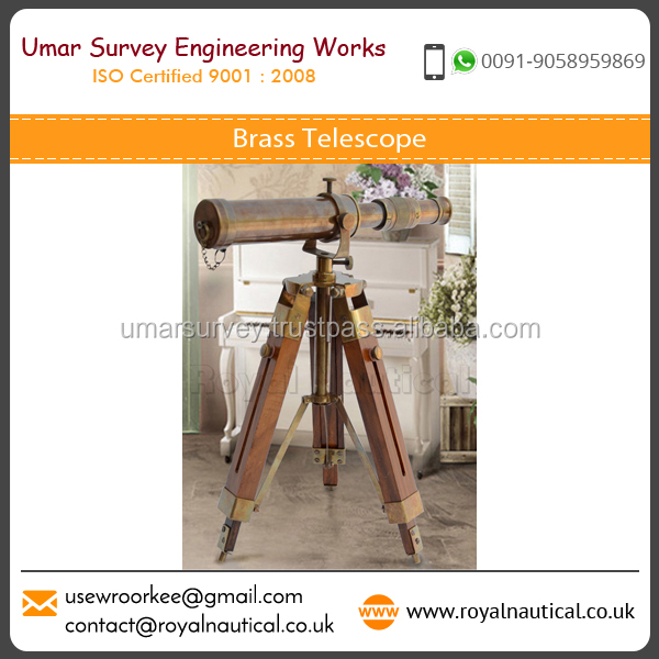 Antique Design Brass Telescope with Stand at Affordable Price