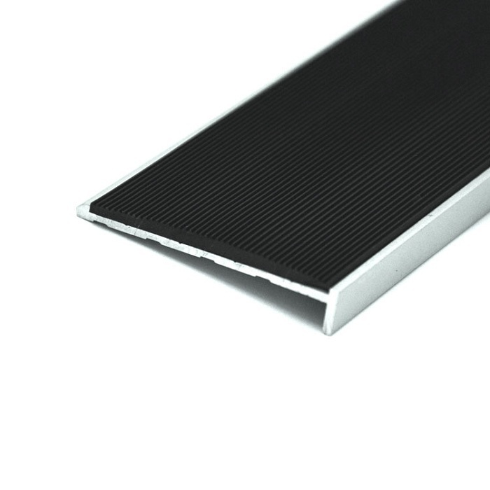 Non Slip Stair Tread Overlay Rubber Stair Nosing