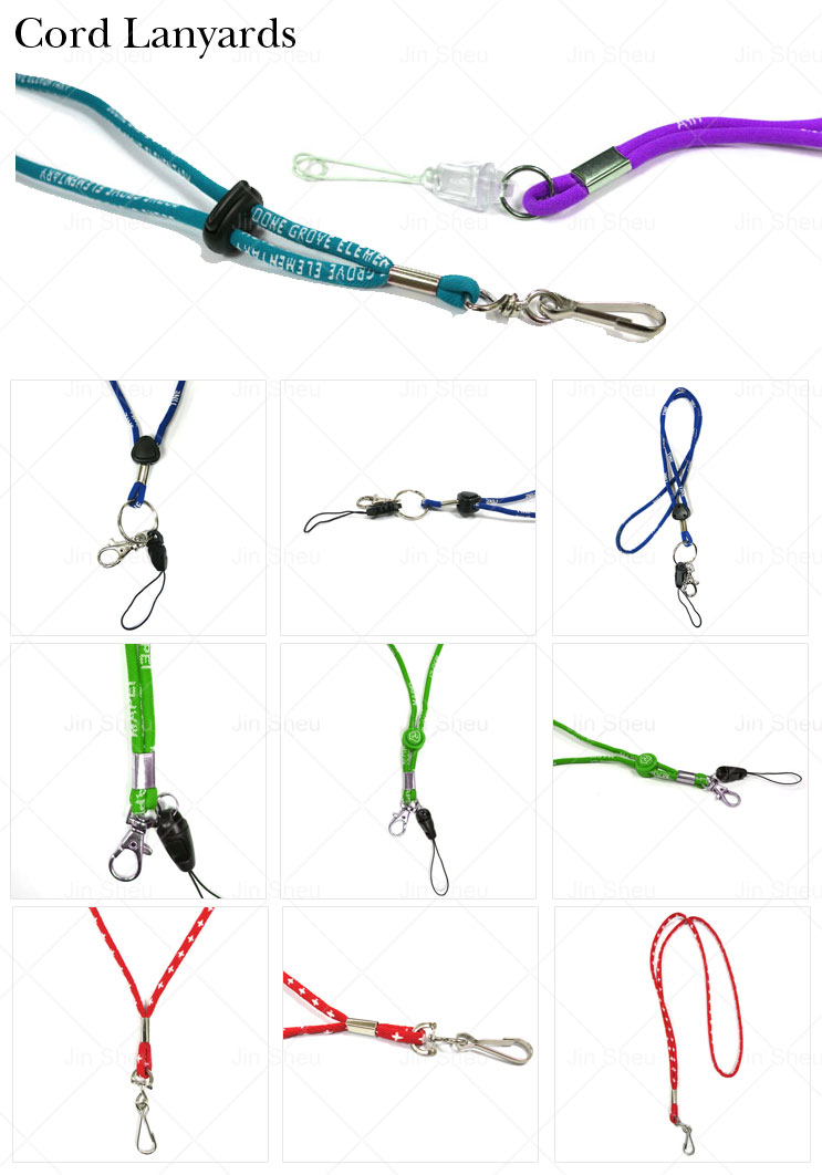 Wholesale cheap custom round cord woven string neck strap