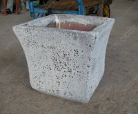[wholesale] Sea Foam pots - Atlantis pots (jar,vase,urn,bottle,bucket,hanging)- Old stone planter - Rustic&Ocean rock