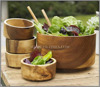 Bamboo salad bowl with lid