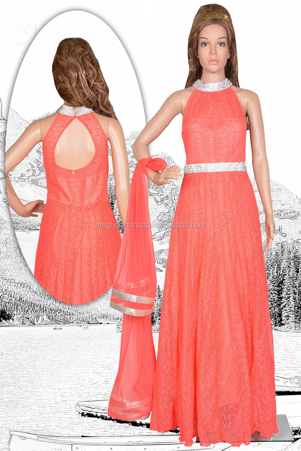 New Wedding Wear Gowns-evening Gowns In India - Wholesale ...