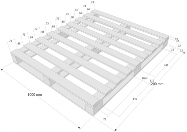 palete de madeira tamanho 1000 x 1200 mm buy de madeira. Black Bedroom Furniture Sets. Home Design Ideas