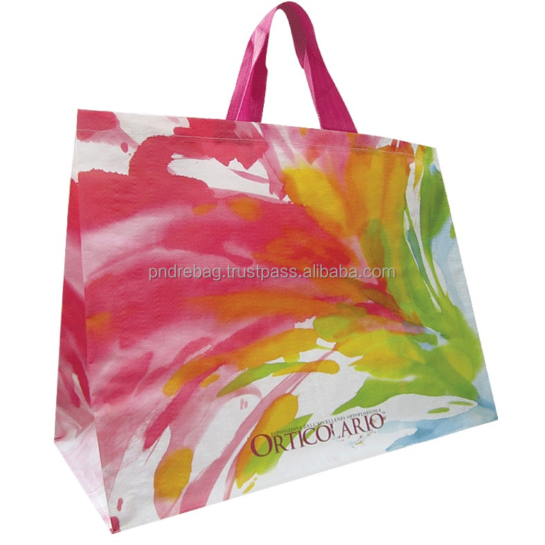 photos printing pp shopping bag, rpet bag