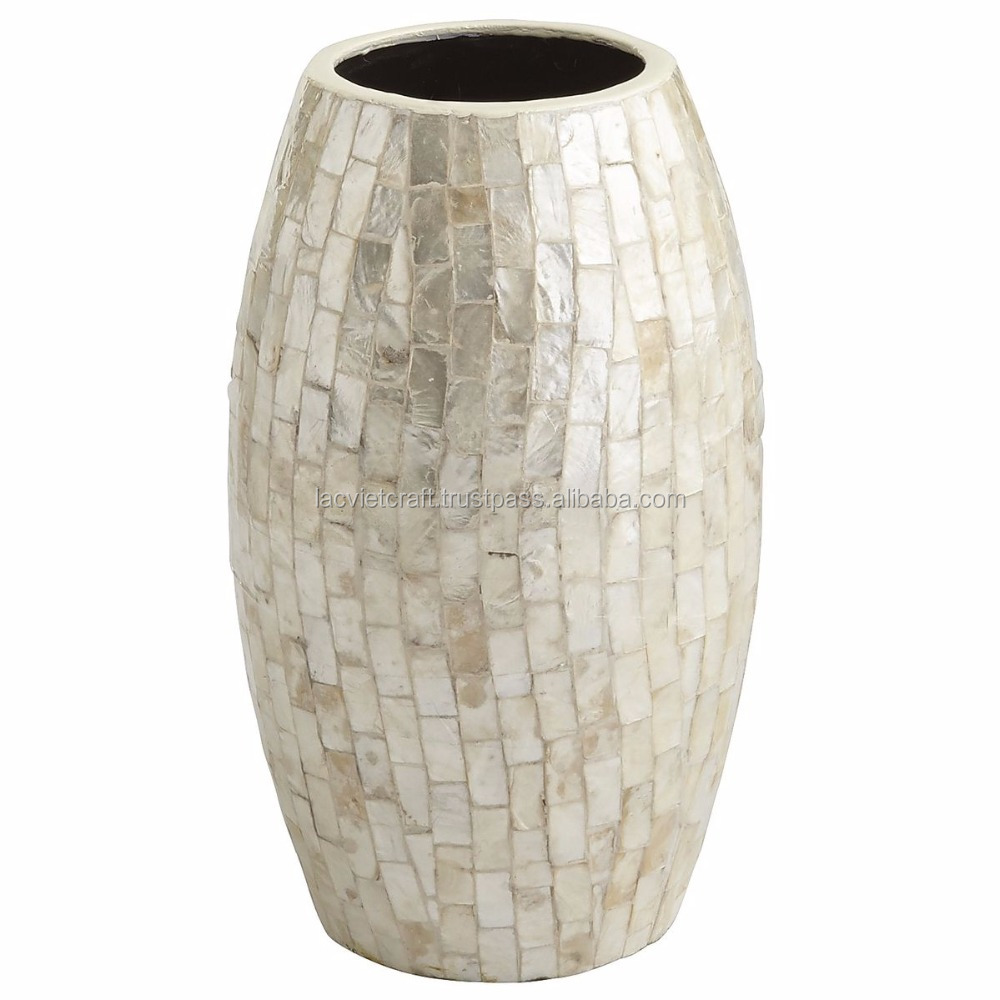 High quality best selling eco friendly Capiz Shell Vase, small size from Vietnam