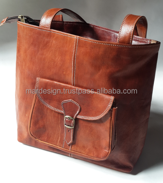 Moroccan Leather Tote bag