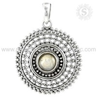 Graceful Rainbow Moonstone Gemstone Silver Pendant 925 Sterling Silver Jewelry Wholesaler Indian Jewelry Exporters