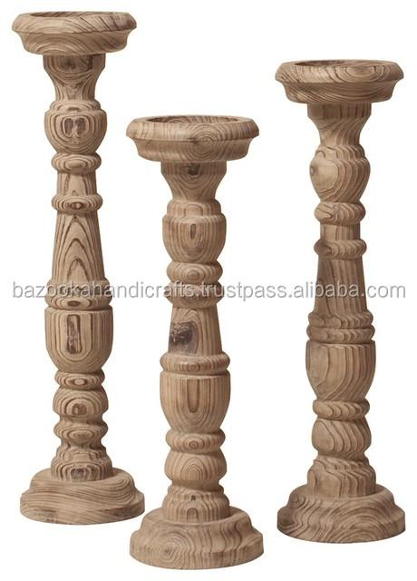 Antique Wooden Candle Pillar Holdertall Wooden Candle Holderwood Carved Candle Holders Buy Cheap Pillar Candle Holderwood Pillar Holderantique