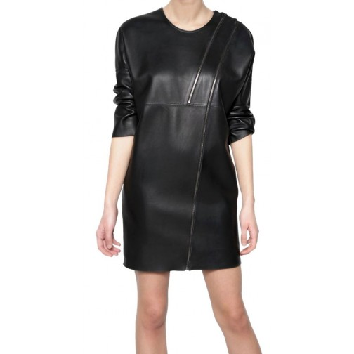 party leather dress /leather hot wear/stylish leather women wearing
