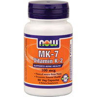 MK-7 Vitamin K-2, 100 MCG, 60 vcaps by Now Foods