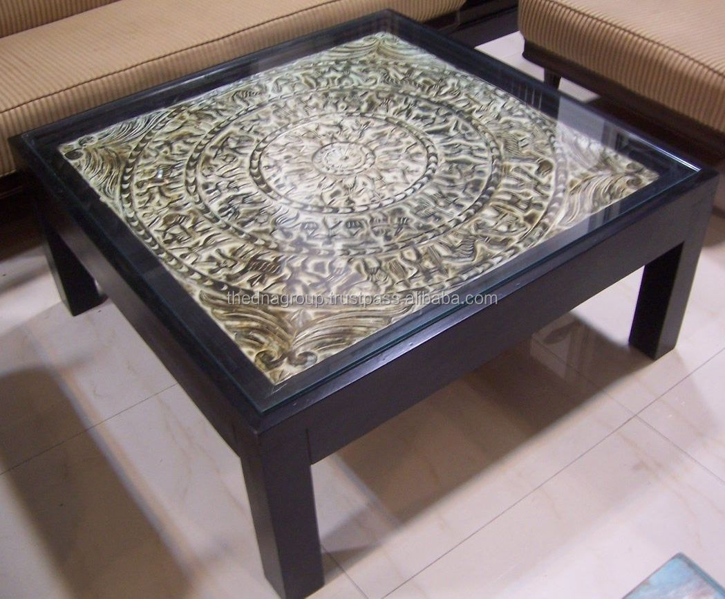 Glass Top Indian Wooden Center Table Buy Glass Top Indian Wooden