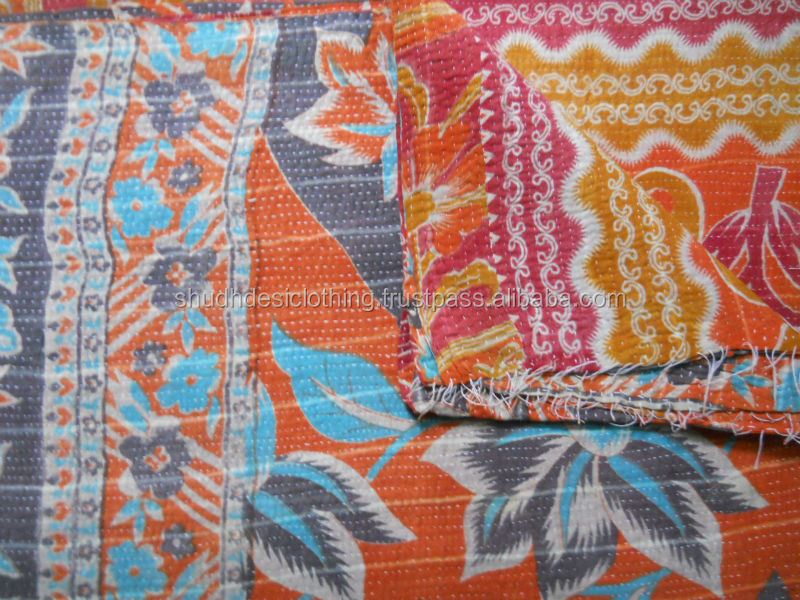 Indian Kantha Cotton Quilts Wholesale New From Jaipur - Buy ... : indian sari quilts - Adamdwight.com