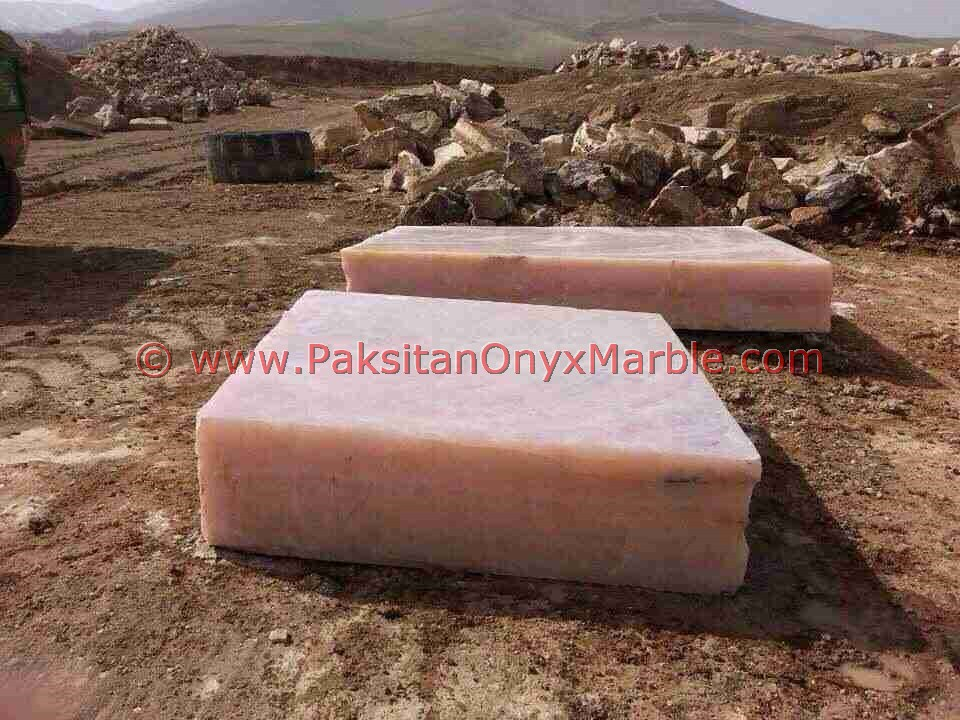 EXPORT QUALITY AFGHAN PINK ONYX BLOCKS