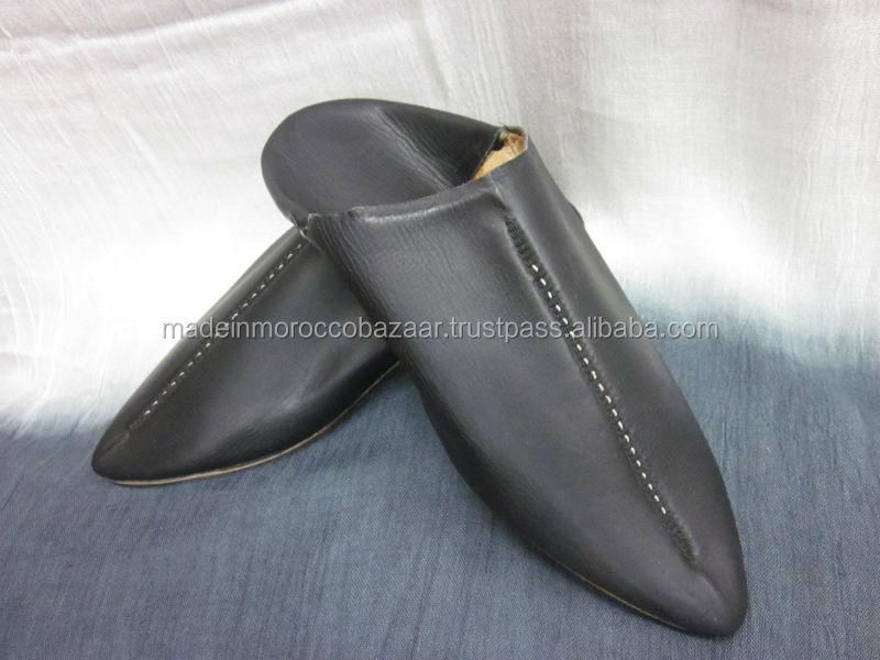 Unsurpassed Morocco Handmade White Genuine Leather Mens Slippers ...