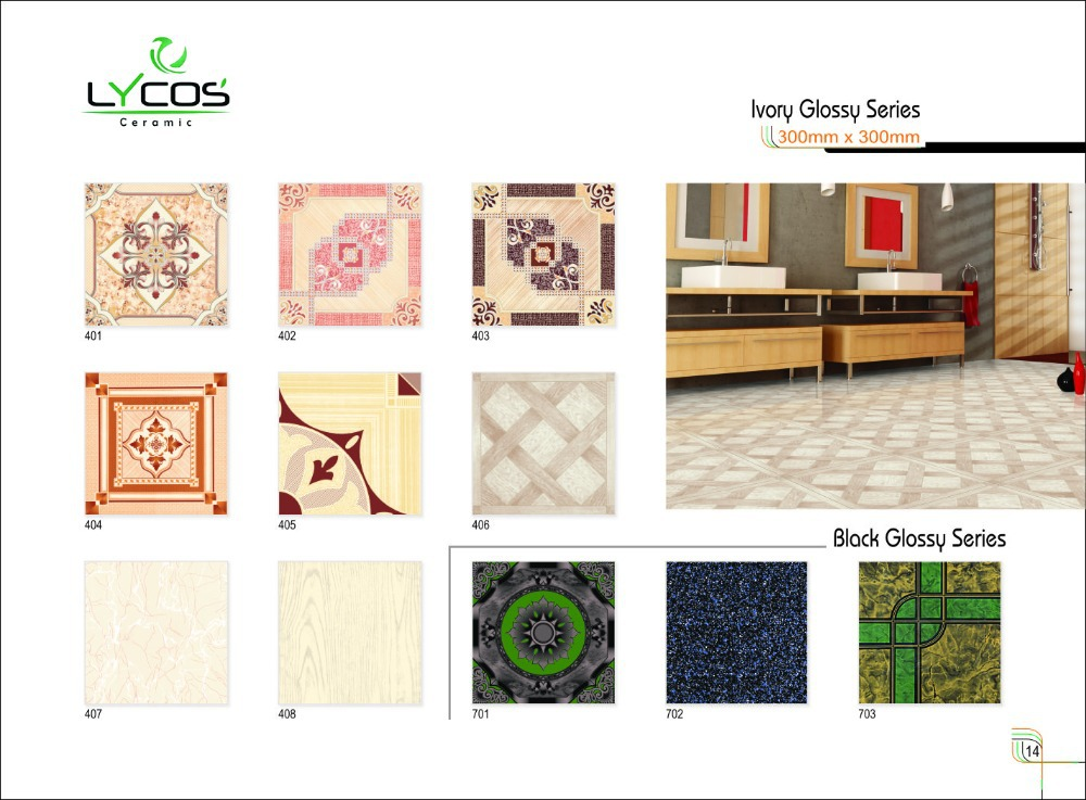 500x500x8.6mm Thickness Digital Ceramic Flooring Tiles