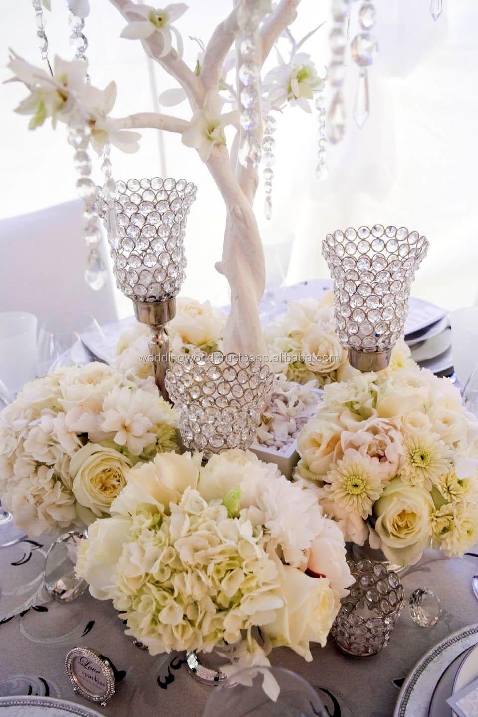 Flower Bowl Wedding Candelabra Crystal Candelabra Wedding