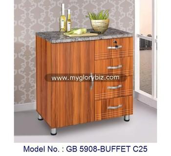 Legno Buffet Cabinet,Pvc Mobili Da Cucina,Mobili Per Cucina - Buy Lowes  Armadi Di Base,Buffet Unità,Piccolo Disegno Della Cucina Product on ...