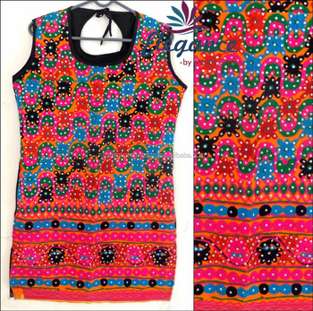 Wholesale Kutch Embroidered Kurta Blouse Gujarati Hand Embroidery