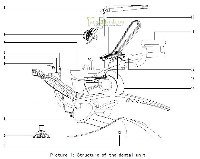 Tr S100 Economical Mermaid Design Dental Chair Unit Fda