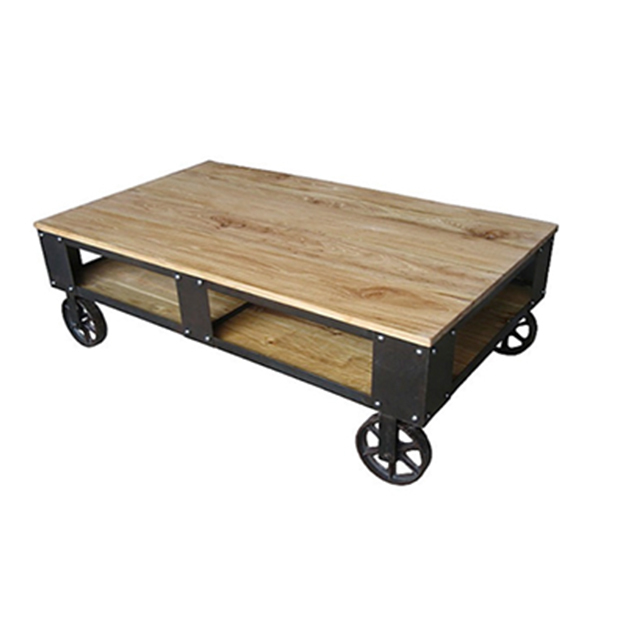 rolling industrial furniture cart coffee table rustic. Black Bedroom Furniture Sets. Home Design Ideas