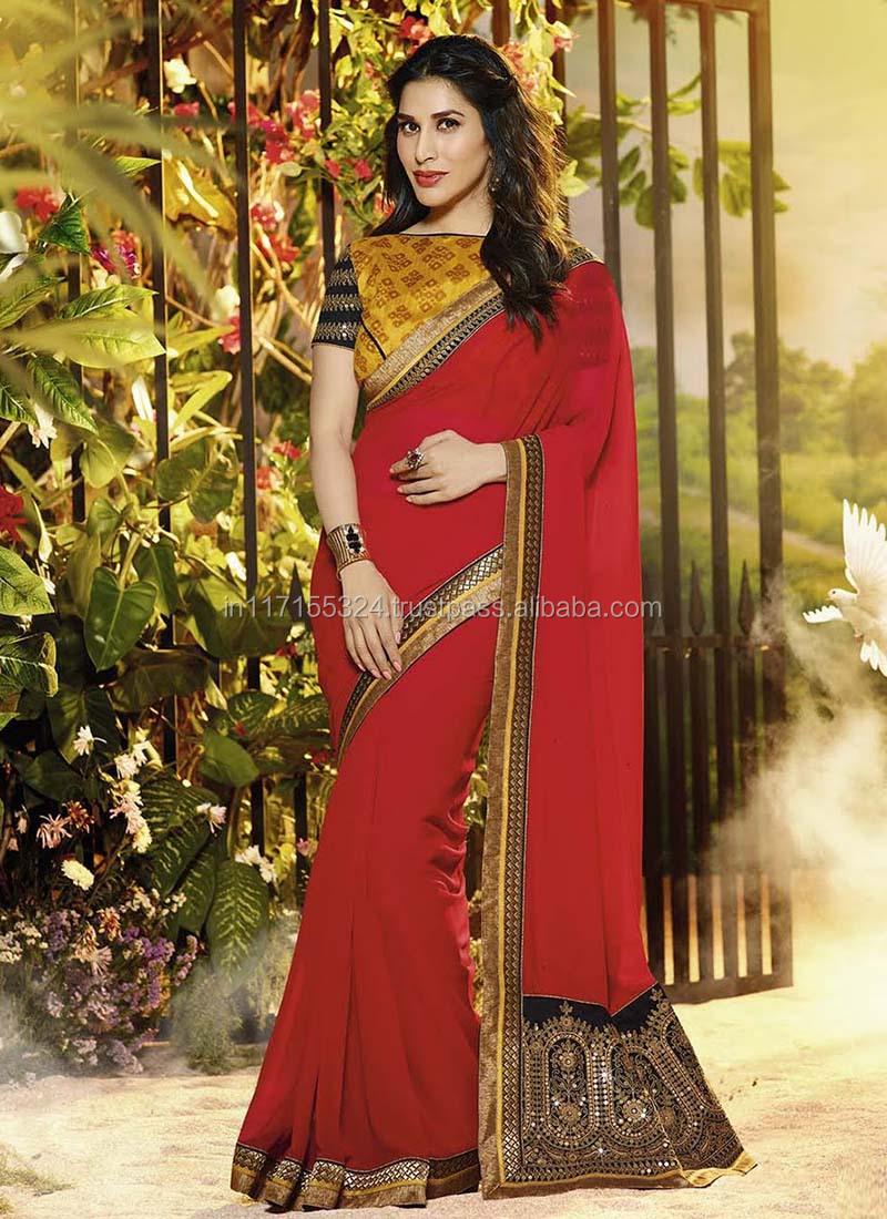 7bb668af8b0c3 Cheap saree wholesale - Indian saree - Katan saree - Jamdani saree - Double  color designer saree - Red party wear saree Frtyu