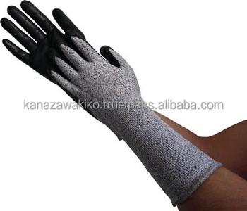 Trusco Hppe Gloves Nitrile Palm Coating Long Tgl5595kll