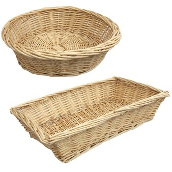 Merveilleux Willow Basket Round Or Rectangular   Storage Natural Fiber Woven Basket