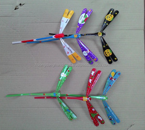 Colorful bamboo balancing dragonfly made in Vietnam item for kids