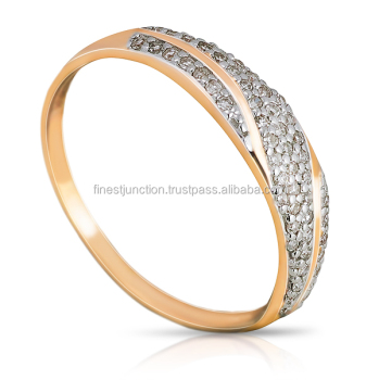 ring wedding rings gold classic engagement white exquisite promise on diamond