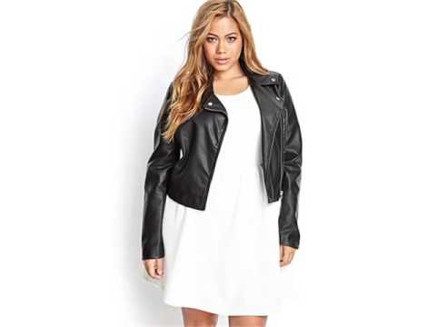 Leather Plus Size Jacket For Plus Size And Chubby Women -Pictures | Leather Plus Size Jacket Romance