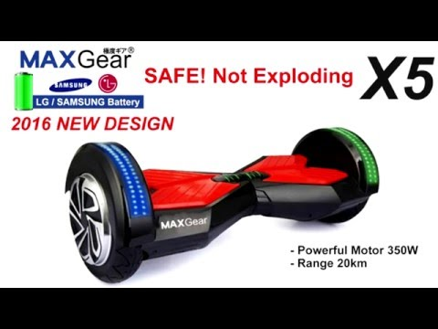 MAXGear X5 Balancing 2 Dual Wheel Hoverboard Electric Scooter 8 Inch by Prado2u