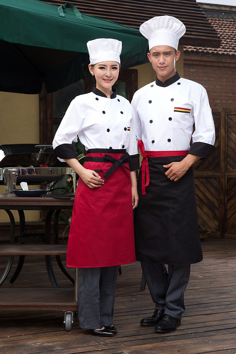 Hotel Restaurant Kitchen Short Sleeves Chef Workwears and Uniforms for Summer foe Men and Women