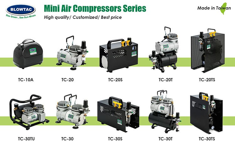 TC-20 Economicnail art mini airbrush compressor Made in Taiwan